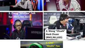 Top 5 Paling Handal Pemain Malaysia Sepanjang Masa/ The Top 5 Highest-Paid Pro Malaysian Gamers Of A