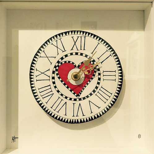 Paper Hand made Doodle Clock .