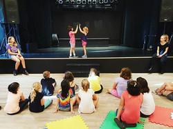 En•sem•ble _1. A group of musicians, actors or dancers who perform together._DTRH kids work together