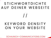5 Tips for Keyword Density on your Website