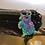 Thumbnail: NBC coin purse Black glitter vinyl Rainbow zipper