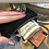 Thumbnail: NBC coin purse gunmetal zipper reflective vinyl