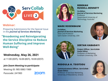 2nd ServCollab Live Event - Preparing submissions for the special issue in JSM