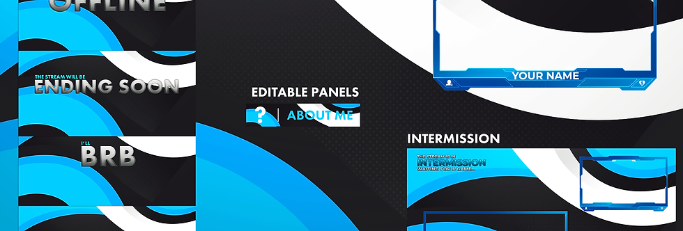 clean twitch package template