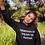 Thumbnail: Creativity is the key women hoodie black