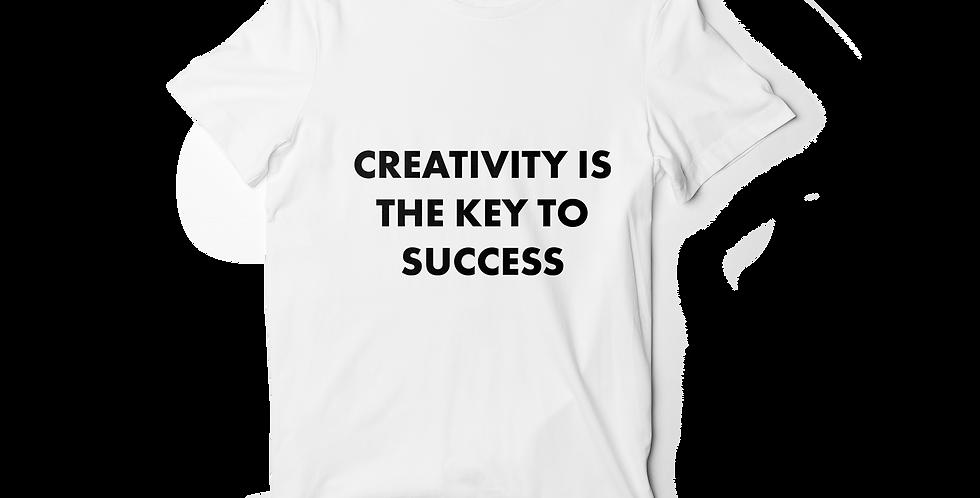 Creativity is the key women shirt white