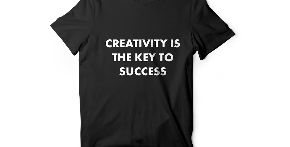 Creativity is the key women shirt black