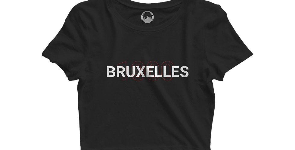BRUXELLES cropped shirt black