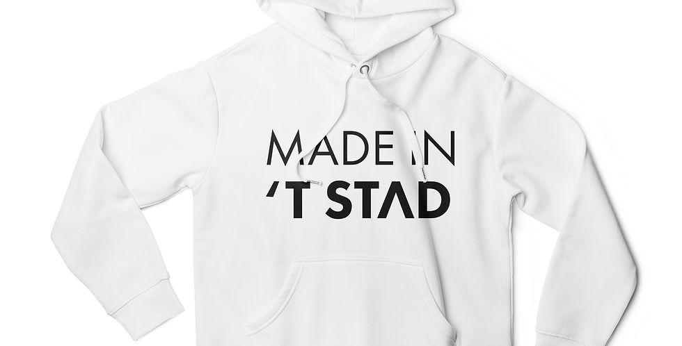 Made in 't stad women hoodie white
