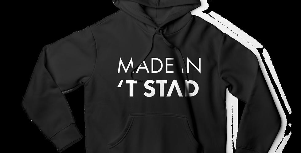 Made in 't stad men hoodie black