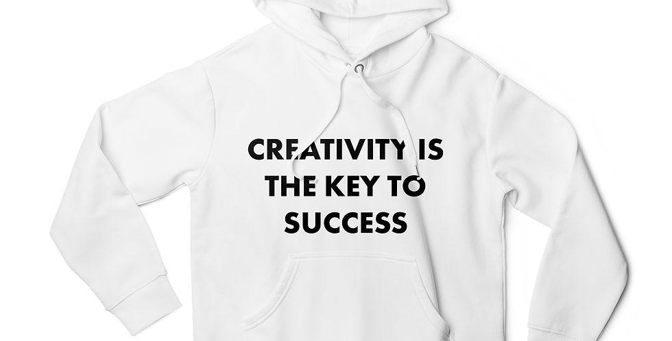 Creativity is the key men hoodie white