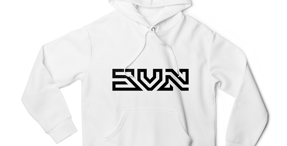 SVN text men hoodie white