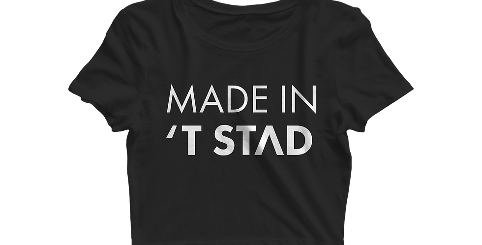 Made in 't stad cropped shirt black