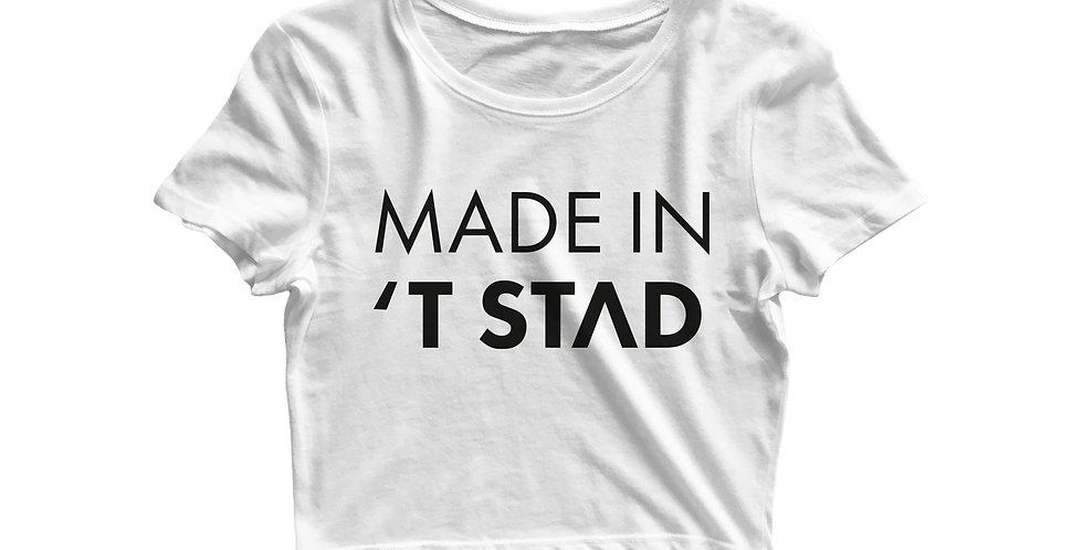 Made in 't stad cropped shirt white