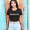 Thumbnail: BRUXELLES cropped shirt black