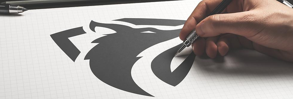 Wolf shield logo