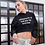 Thumbnail: Creativity is the key Crop top hoodie
