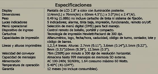 Especificaciones Anser u2 k