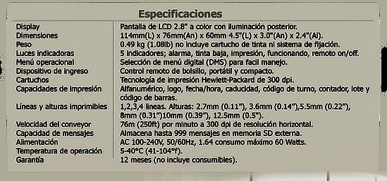 Especificaciones Anser u2 std