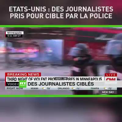 ETATS-UNIS: DES JOURNALISTES PRIS POUR CIBLE PAR LA POLICE