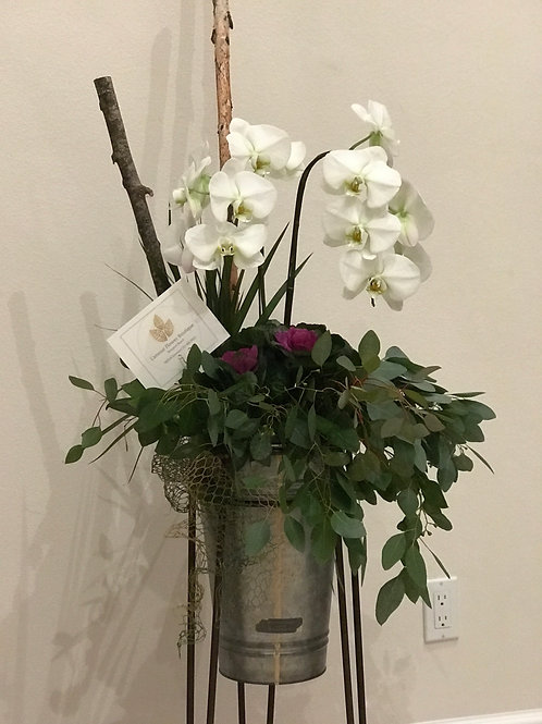 Floor Base Orchid Arrangement