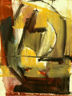 ochre & red abstract