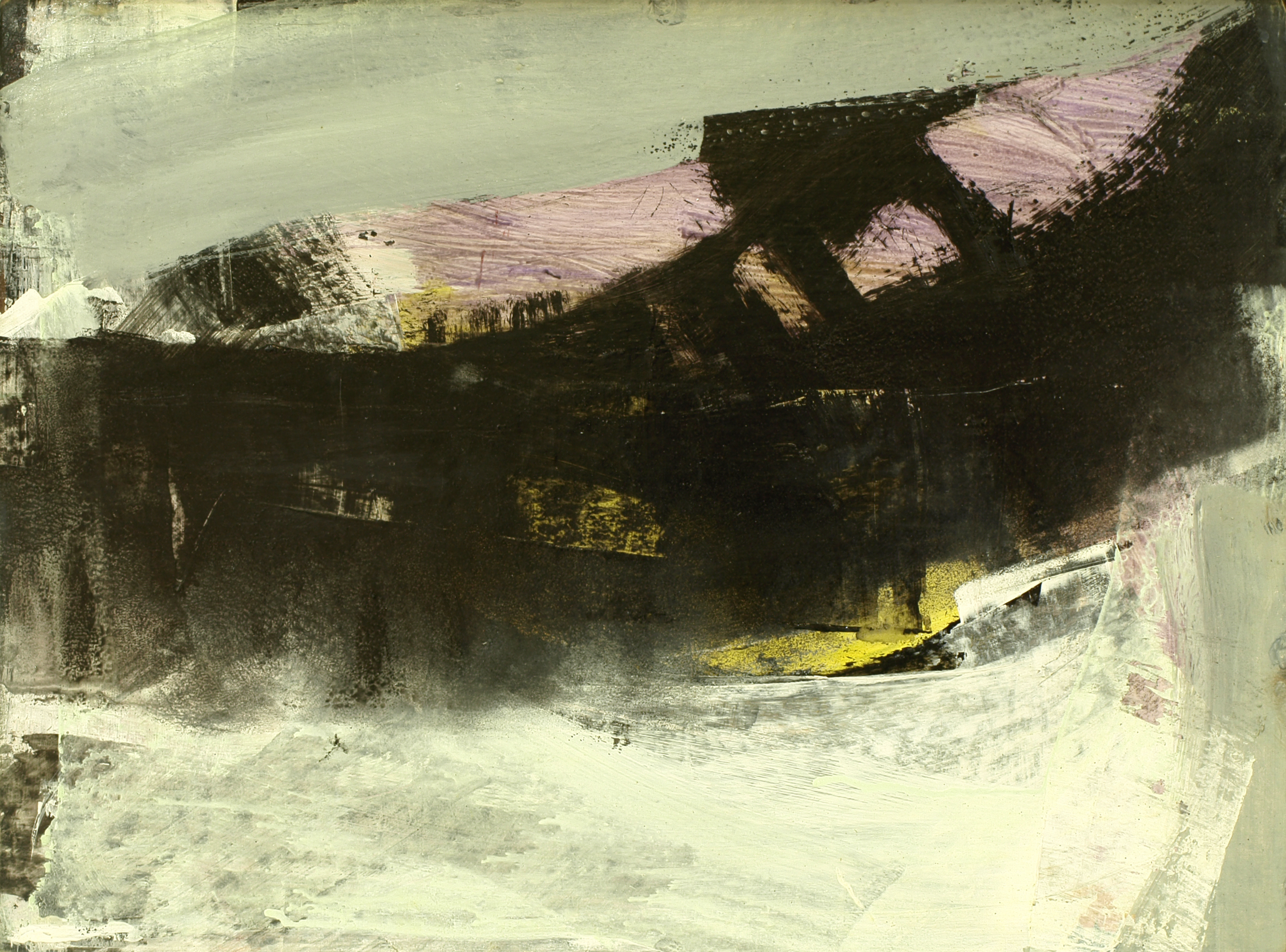 black & pink abstract