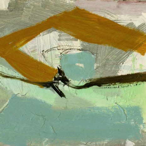 turquoise & ochre abstract