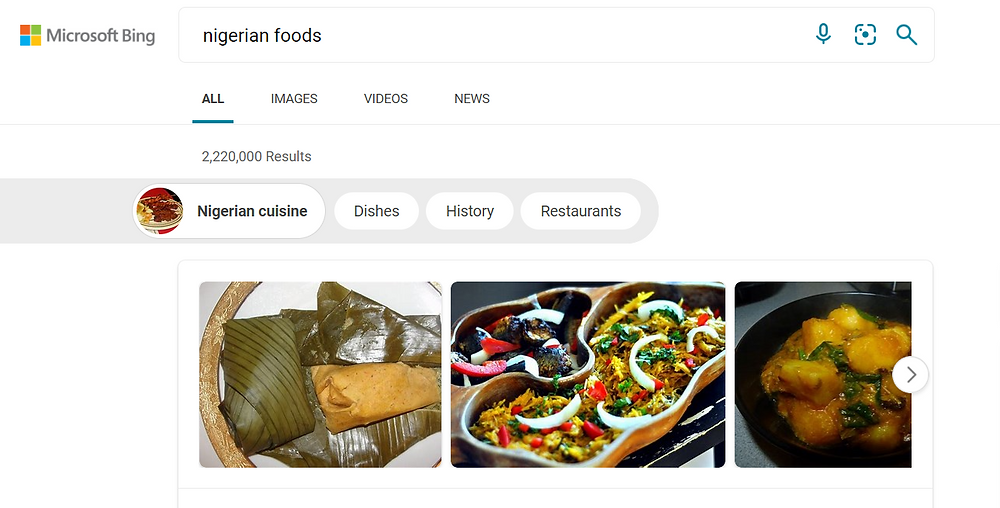 bing search results for nigerian foods