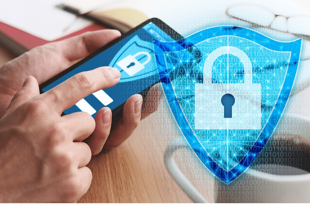 Mobile phone data being secured