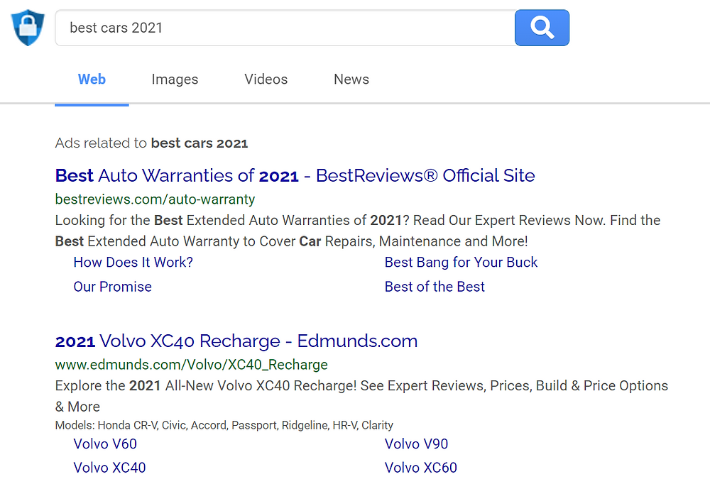 best cars 2021 search result for search encrypt search engine