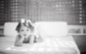 Toddler on mattress