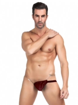 Red Synthetic Leather Underwear
