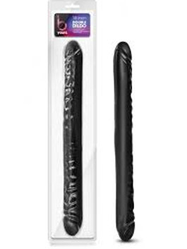 B Yours 18 inch Double Dildo Black
