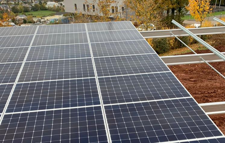 Pose des modules photovoltaïques