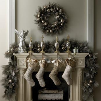 Product Photography Christmas Stockings Garland