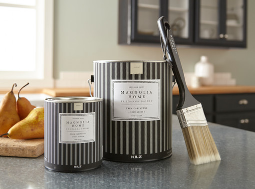Product Photography Magnolia Home Paint Cans