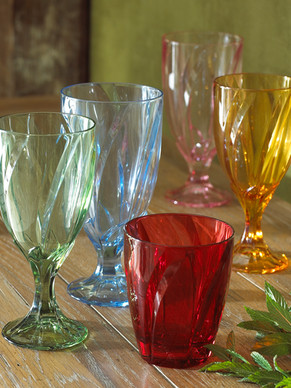 Product Photography Colored Glassware