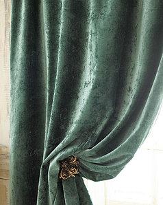 crushed velvet drapes
