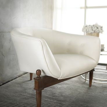 Furniture Photographer White Leather Chair