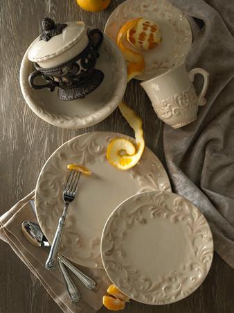 Product Photography Dinnerware Tan