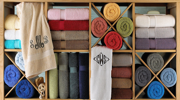 Product Photography Towels Monogrammed