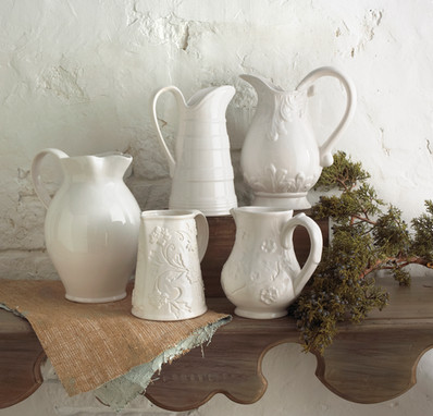Product Photography White Pitchers