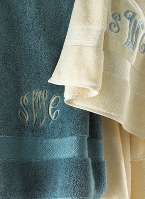 Product Photography Monogram towels