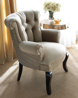 Furniture Photographer Grey Tufted Chair