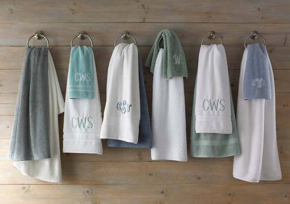Product Photography Monogrammed Towels