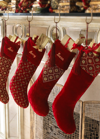 Product Photography Red Christmas Stockings