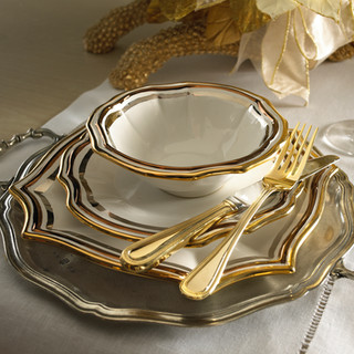 Product Photography Gold Rimmed Dinnerware