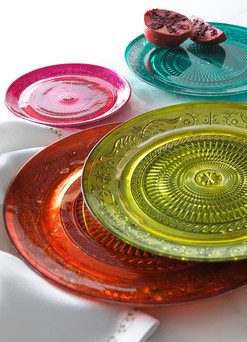 Product Photography Colored Glass Plates