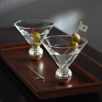 Product photography 19th Hole Martini glasses